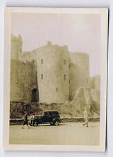 Old Motor Car at Harlech Castle - Vintage Photograph 1935