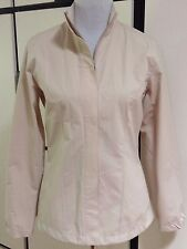 NWT Callaway Ladies Golf Jacket All Weather Rain Wind Zipper Tan Beige Cinched S