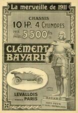 """""""CLEMENT-BAYARD"""" Annonce originale entoilée LA VIE AUTOMOBILE 1911  26x35cm"""