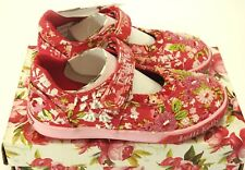 NEW Lelli Kelly Daisy Dolly Beaded Mary Jane Pink/Red LK4132 US 1  Retail $109