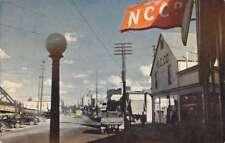 Fairbanks California street scene Northern Commercial Bldg vintage pc Z45622