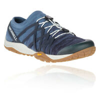 Merrell Womens UK Sizes 4 - 8 Trail Glove 4 Knit Stretch Trainers Blue Wing
