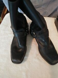 FRYE BACK LEATHER ENGINEER MOTORCYCLE MENS COWBOY WESTERN BOOTS SIZE 10 1/2 M