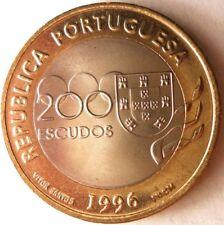 1996 PORTUGAL 200 ESCUDOS - AU Bi-Metal Coin Bi-Metal Bin #1