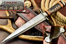 Rare!!! Custom Hand Made Damascus Steel Blade Dagger Knife | Camel Bone