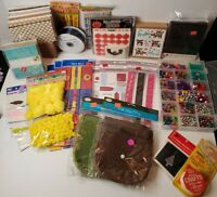 Lot of Assorted Scrapbooking, Cards, Crafting Materials, vintage/now, see pics!!