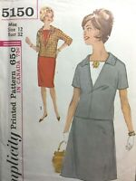 VINTAGE 50s Sewing Pattern Top 2 skirts Simplicity #5150 Size 12 Bust 32 UNCUT