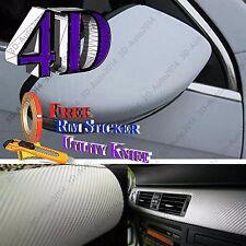 4ft X 5ft White 4D GLOS Carbon Fiber Vinyl Air Release Pockets Bubble Free