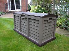 Lockable Plastic Garden Storage Box Waterproof Wheels Large Shed Outdoor Garage