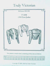 Truly Victorian Sewing Pattern TV498 for an Eton Jacket 1890 to 1900 Victorian