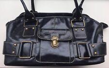 APT. 9 Handbag Purse Bowler Vintage Style Black Shoulder Bag