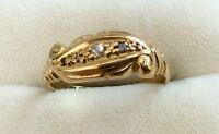 Beautiful Ladies Antique Circa ( 1919 ) 18Ct Gold Diamond Ring Must See