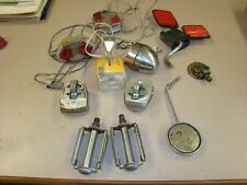 Vintage BICYCLE PARTS, LIGHTS, PEDALS, MIRROR