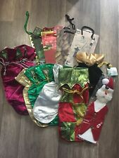 Lot Of 15 Wine Bottle Gift Bags Paper And Cloth