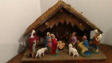 Vintage Wooden Creche - Nativity - Manger Scene - Made in ITALY - Baby JESUS