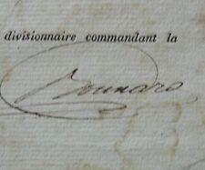 Généraux d'Empire Ennemond Bonnard Vouvray, Congé de M. Céran Fusilier 1812