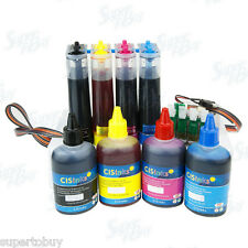 Continuous Ink System w/ Refill Ink Bottles R2 for Epson Workforce WF-2750 CIS