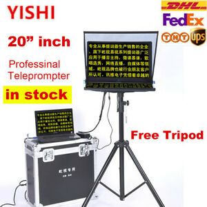 """Yishi 20"""" inch Teleprompter For Computer Laptop DSLR Camera News Live Interview"""