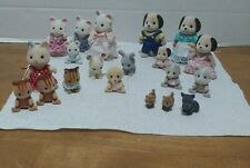 Epoch Critters Vintage 1985 Flocked Cat Dog Mouse Bunny and Mini Dogs Lot of 20