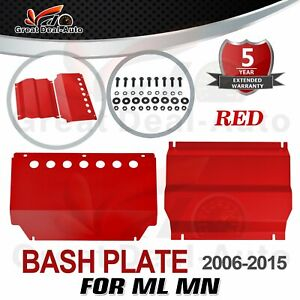 RED Bash Plate 2pc for Mitsubishi Challenger PB PC 2009-15 Underbody Sump Guard