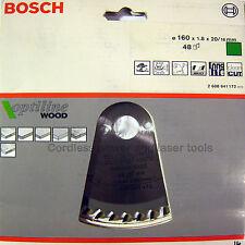 Bosch Optiline Wood Circular Saw Blade 160mm, 1.8mm, 20mm 48 Teeth 2 608 641 172