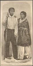 ILE DE LA REUNION HOMME & FEMME MALGACHES JEUNE FILLE MALABAR IMAGE METTAIS 1862