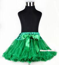 XMAS Kelly Green FULL Tutu Skirt Dance Party Dress Girl Adult Women Lady