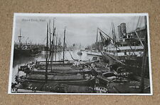 Vintage Postcard: Albert Docks, Hull, Steam Ship, Harbour, Tug, 1914, Valentines