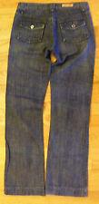 Seven 100% Cotton Boot Cut Mid Rise Dark Blue Jeans Junior Size 26 - CL0209-0125