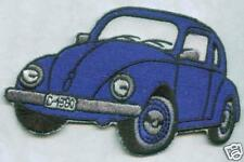 BLUE VW BEETLE IRON ON  PATCH BUY 2 GET 1 FREE