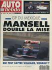 AUTO HEBDO n°822 du 25 Mars 1992 GP MEXIQUE BMW325i ZX VOLCANE GOLF GTI