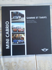 Mini Cabrio specifications and price list brochure Sep 2006 French text