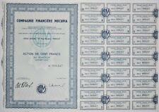 Action - Compagnie Financière MOCUPIA, action de 100 Frs N° 008247