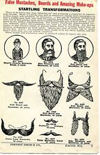 1928 small Print Ad of False Mustaches Beards & Amazing Make-ups Charlie Chaplin