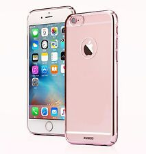 Iphone 7 Plus 5.5 Clear Transparent Rose Pink Edge Case Cover Protector