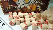LOTO Russian Lotto Popular Old Game Bingo Wooden Barrels Русское ЛОТО