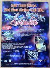 Ogre Battle Poster Ad Print Playstation PS1 Retro