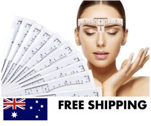Eyebrow Rulers - Eye Brow Stencil Reusable Semi Permanent Henna Tinting Micro