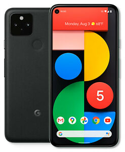 Google Pixel 5 GTT9Q - 128GB - Just Black (Unlocked) (Single SIM)