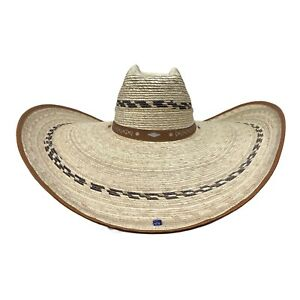 21x18 Wide Western Palm leaf Mexican Sun Hat/21x18 Sombrero ancho para sol