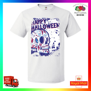 Happy Halloween TShirt T-Shirt Tee Funny Scary Ghost Sugar Skull Dia De Muertos