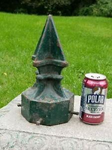 """ANTIQUE LARGE  11"""" H  X 8 1/4"""" Dia  8.5 Lbs CAST IRON FINIAL TOPPER  Roof Fence"""