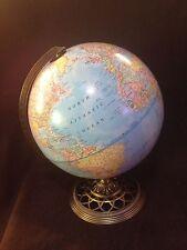 "12"" Globe by George F. Cram Co.  Intricate Metal Base Antique Bronze finish"