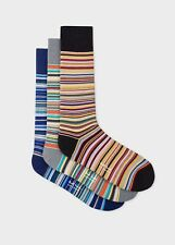 Brand New Paul Smith classic multistripe socks 3-pack gift set. Made in England.