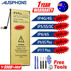 For Apple iPhone 4S 5S 5C 6 6S 7 PLUS High Capacity Battery Replacement Tools OZ