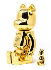 Medicom BE@RBRICK BAIT Gold Bar 400% & 100% Bearbrick COMPLEX CON EXCLUSIVE
