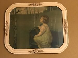 """1920's """"Spring Song"""" print/lithograph by Simon Glücklich, beautifully framed"""