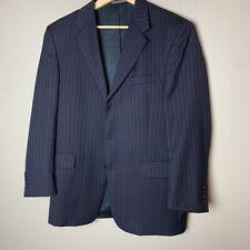Kenneth Cole Mens 42R Blue Corporate Pinstripe 100% Wool Coat Jacket Suit Blazer