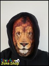 Lion Full Head Mask Realistic Animal Printed Lycra Funny Fancy Dress