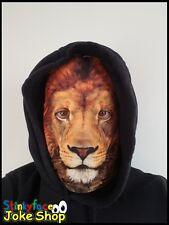 Lion Full Head Mask Realistic Animal Printed Lycra Funny Fancy Dress